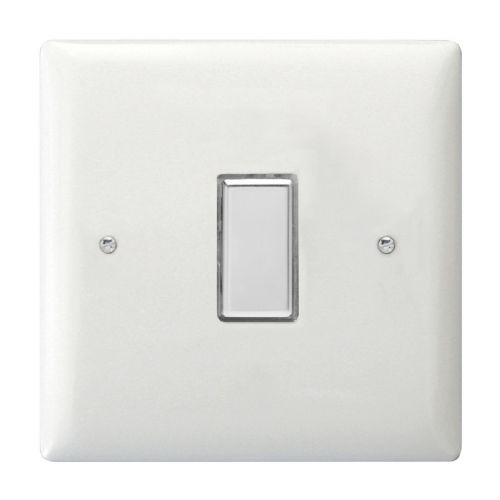 Varilight JOT101C Value Polar White 1 Gang V-Pro Touch Master LED Dimmer 0-100W